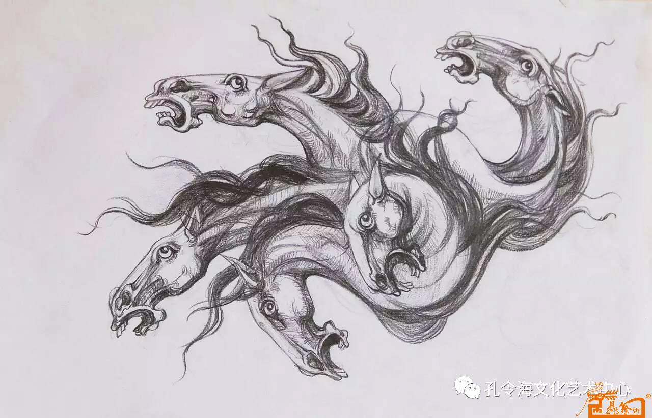 国画名家 孔令海 - 手绘动物图稿9